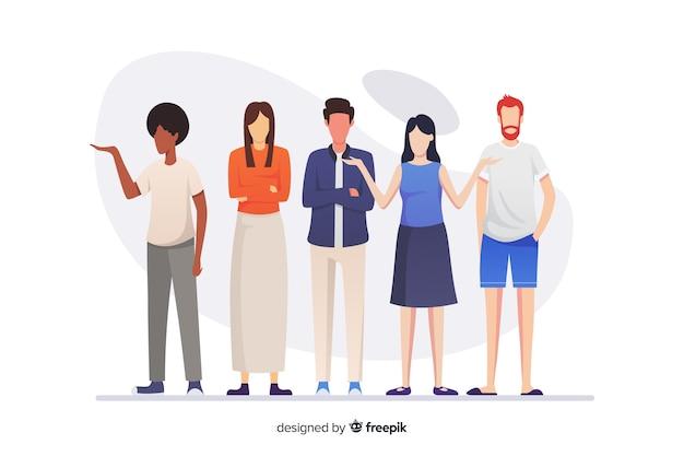 Grupo de personas de diferentes razas