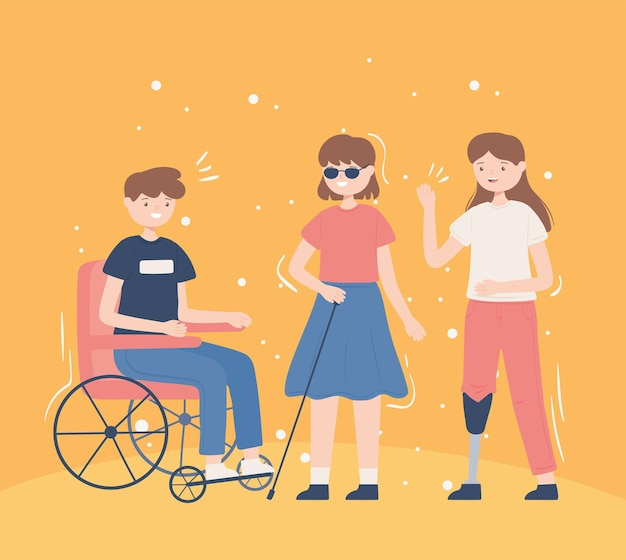 Grupo de personas discapacitadas