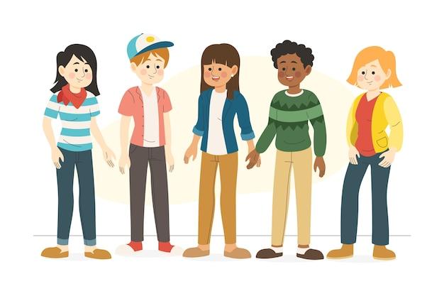 Grupo de personas felices