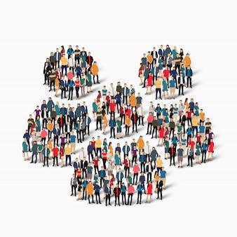 Grupo de personas forma mans