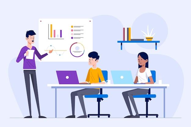 Grupo de personas en formación empresarial