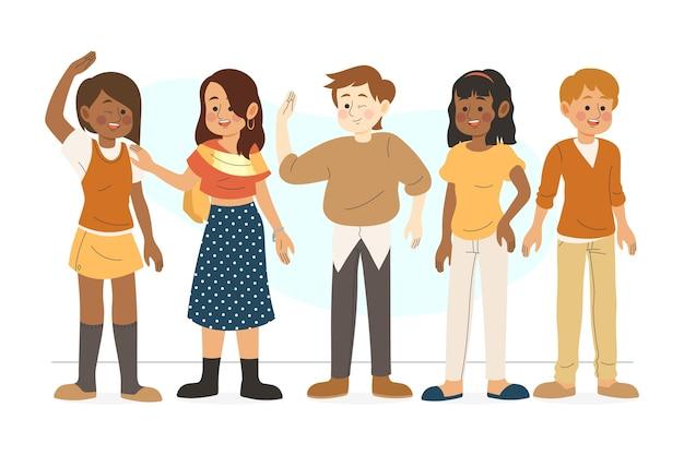 Grupo de personas multirraciales
