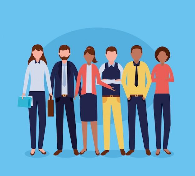 Grupo de personas de negocios