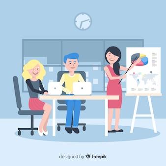Grupo de personas trabajando en la oficina.