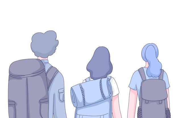 Grupo de personas de viajeros