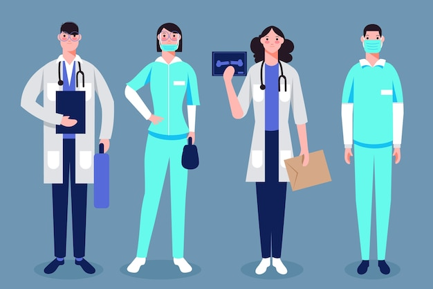 Grupo de profesionales de la salud.