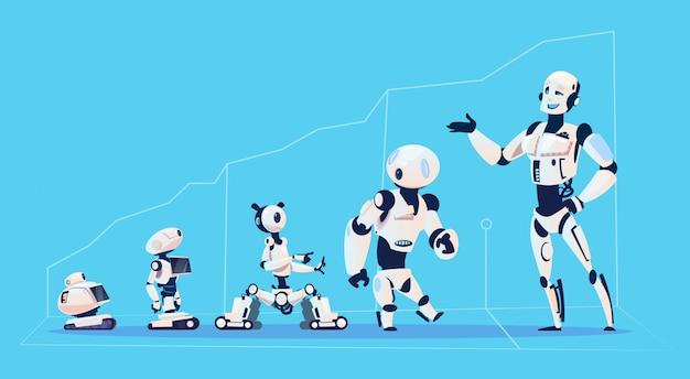 Grupo de robots modernos