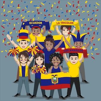 Grupo de seguidores del equipo nacional de fútbol de ecuador