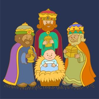 Grupo de tres reyes