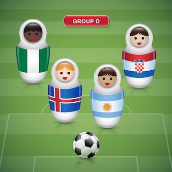 Grupos d de la copa de fútbol 2018