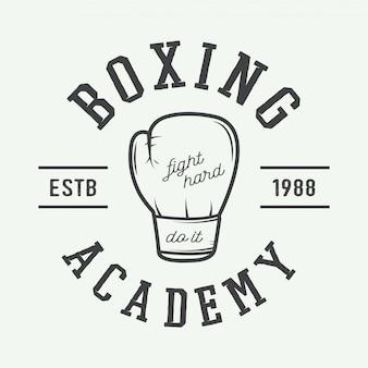 Guantes de boxeo en estilo vintage.