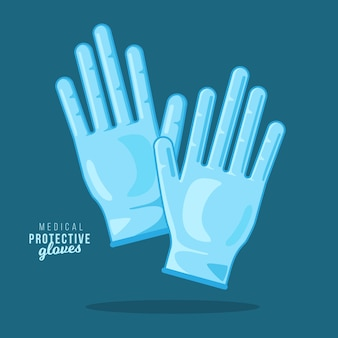 Guantes de protección médica