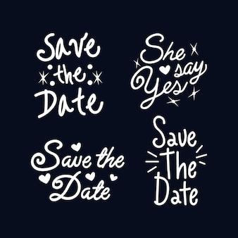 Guardar el concepto de letras de fecha