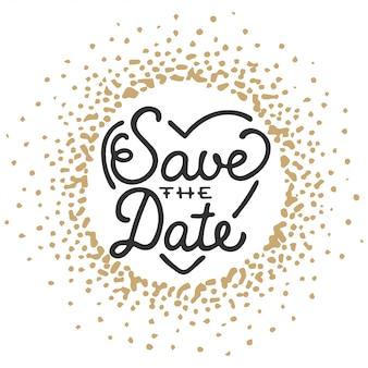 Guardar la fecha invitar plantilla de tarjeta de felicitación