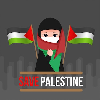 Guardar la ilustración de palestina