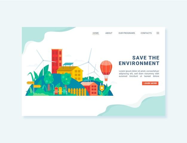 Guardar la página de destino del medio ambiente
