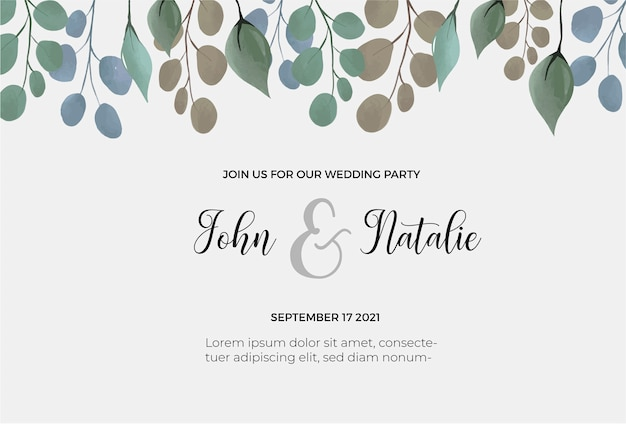 Guardar la plantilla de la fecha de boda
