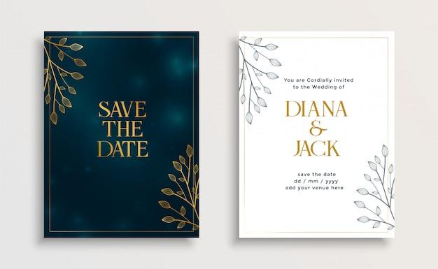 Guardar la plantilla de invitación de boda de fecha