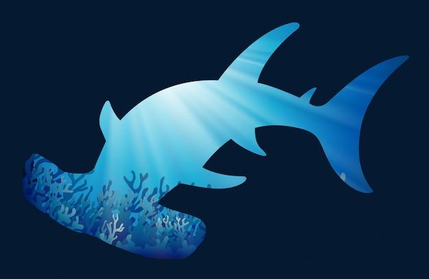 Guardar el tema de la vida silvestre con el tiburón ballena