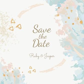 Guardar el vector de invitación de boda de fecha