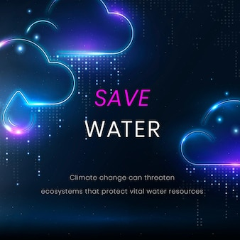 Guardar vector de plantilla de entorno de agua