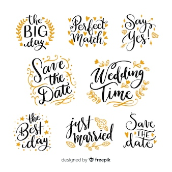Guarde la colección de fechas en estilo de letras