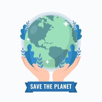 Guarde el diseño de ilustración del planeta