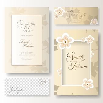 Guarde la fecha tarjeta de aniversario de boda de día especial con tarjeta de agradecimiento
