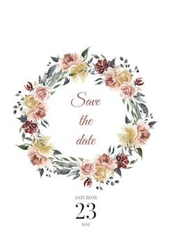 Guarde las plantillas de boda de fecha