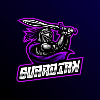 Guardian mascot logo esport gaming