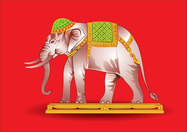 La guerra de elefantes hermosa.