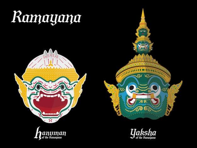 Guerrero del ramayana en tailandia