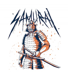 Guerrero samurai japonés