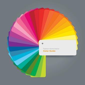 Guía circular de paletas de colores para diseñadores de interiores de moda