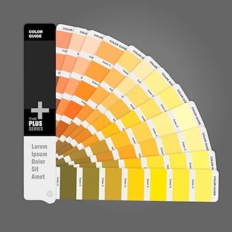 Guía de paleta de colores para impresión y artistas.