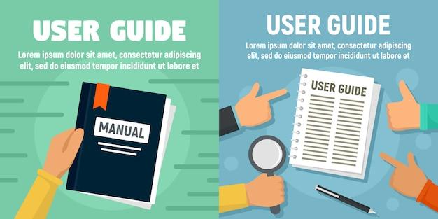 Guía de usuario moderna conjunto de banners