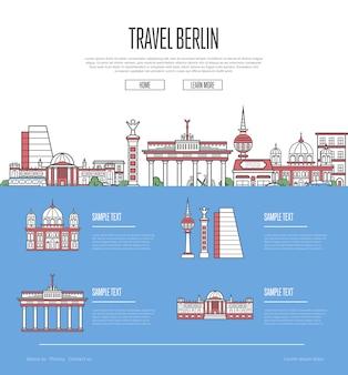 Guía de vacaciones de viaje de la ciudad de berlín