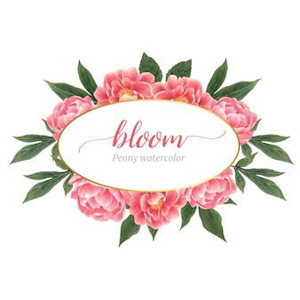 Guirnalda de elegancia de flores botánicas