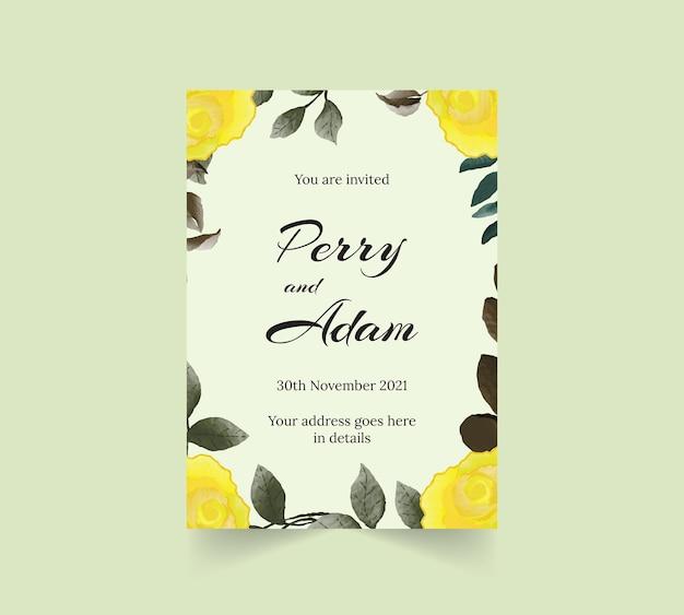 Guirnalda floral acuarela colorida con borde dorado