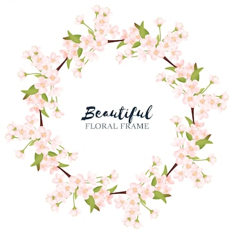 Guirnalda floral de flor de cerezo