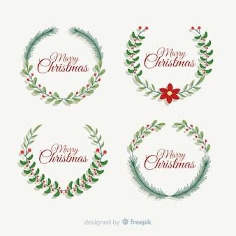 Guirnalda floral verde para navidad