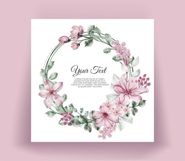 Guirnalda de flores acuarela marco floral