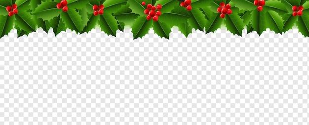 Guirnalda de navidad con holly berry