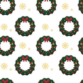Guirnalda de navidad de patrones sin fisuras