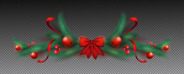Guirnalda navideña con cintas