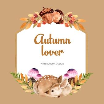 Guirnalda con tema de otoño