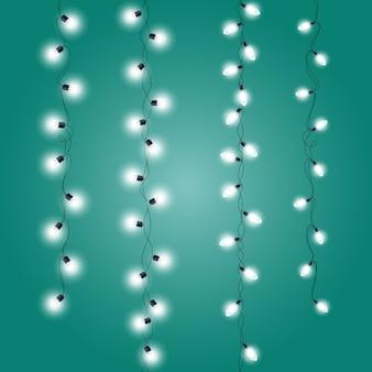 Guirnaldas de adornos navideños - luces navideñas verticales