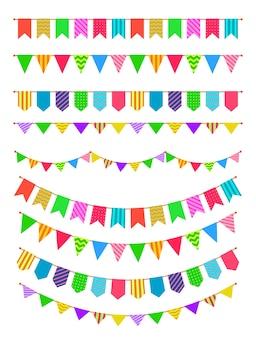 Guirnaldas de arcoíris, banderines colgantes de colores