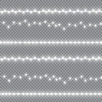 Guirnaldas, efectos de luces de decoración navideña.