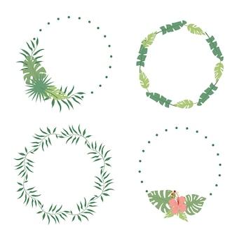 Guirnaldas de hojas de palma
